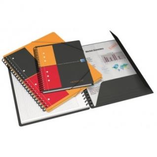 Бизнес-тетрадь OXFORD MEETINGBOOK А5+ 80л лин.папка 3кл,сп,пл.обл.100103453