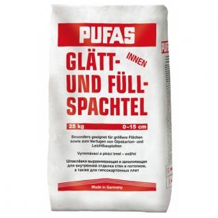 Шпатлевка Glätt+Füll артикул 3 для выравнивания и заполнения 5 кг Pufas