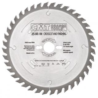 Пильный диск CMT универсальный для продольного и поперечного пиления 350x30x3,5/2,5 15° 10° ATB Z=72 285.072.14M