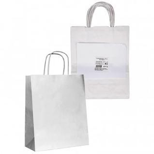 Сумка крафт, крученые ручки, белая (25х11x32 см,90г/м2)