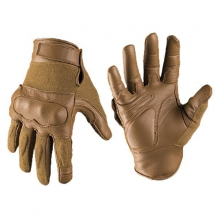 Перчатки кожаные Kevlar, цвет койот