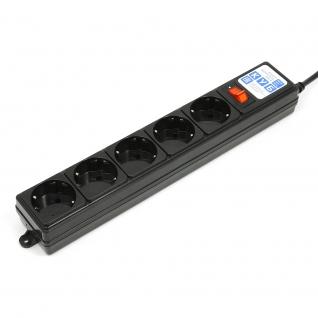 Фильтр-удлинитель Power Cube B 0,5 м 5 розеток (черный) 10А/2,2кВт
