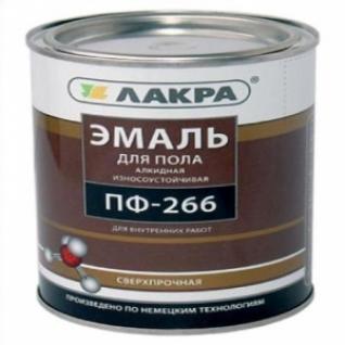 Эмаль для пола ПФ-266 Лакра красно-коричневая /20,0 кг/