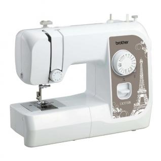 BROTHER LX 1700, Швейная машина (17 швейных операций, электромеханическая, ротационный горизонтальный челнок, петля-полуавтомат,шитье двойной иглой, рукавная платформа)