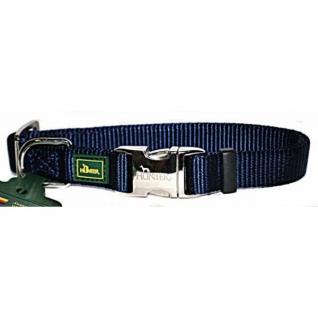 Hunter Hunter ошейник для собак ALU-Strong S (30-45 см) нейлон с металлической застежкой темно-синий