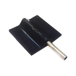 Электрод «Флажок» резиновый многоразовый токопроводящий для Элфор. 20x20 мм. Под штекер 2 мм. Цена за 1 шт.