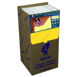СОЛИД подложка XPS листовая 2мм (упак. 5,25 кв.м.) / SOLID подложка XPS листовая под ламинат 2х1050х500мм (упак. 10шт.=5,25 кв.м.) Солид
