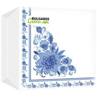 Салфетки BG 1сл.24х24 бел с рис Гжель 100шт./уп. 1620