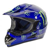 Мотошлем Monster синий