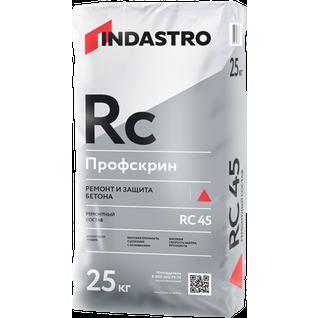 ИНДАСТРО RC45 Профскрин смесь для ремонта и защиты бетона (25кг) / INDASTRO RC-45 Профскрин ремонтный состав для бетона (25кг) Индастро