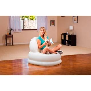 """Надувное кресло """"Мода"""", белое, 99 х 84 см Intex"""