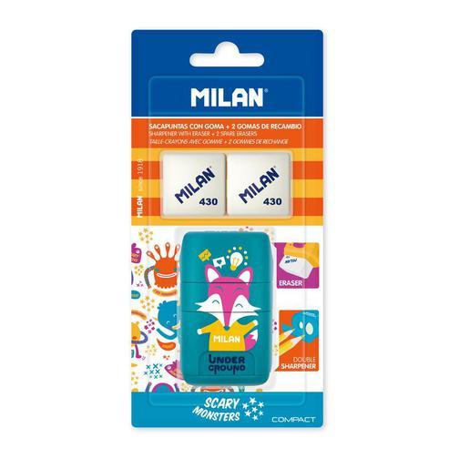 Ластик -точилка Milan Compact UNDERGROUND, блистер BYM10381 +2 ластика (ДС) 42471032 3