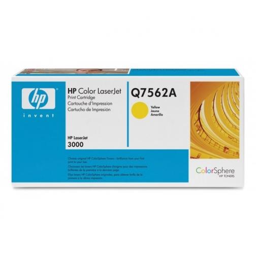Оригинальный картридж Q7562A для HP CLJ 2700, 3000 (желтый, 3500 стр.) 904-01 Hewlett-Packard 852407 1