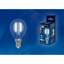 Uniel LED-G45-6W/NW/E14/CL PLS02WH картон
