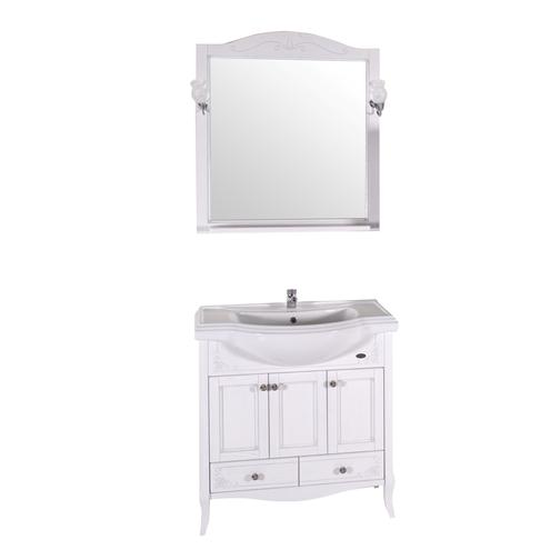 Подстолье Салерно 105 (Белый/Патина серебро) ASB-Woodline 38117090 2