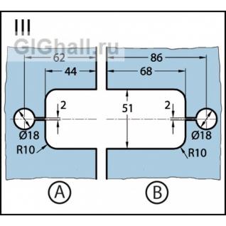 Milano 180° стекло - стекло выравнивание BK 0613031/BK 0613046/BK 0613055