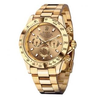 Часы кварцевые Rolex Daytona (золотой корпус)