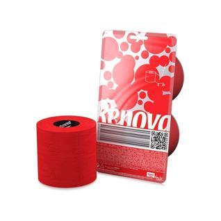 Туалетная бумага трехслойная RENOVA CRYSTAL цвет красный 140 листов, 2 рулона