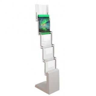 Стойка складная для печатной продукции, 5 карманов А4, мобильная