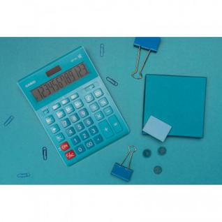 Калькулятор настольный ПОЛНОРАЗМЕРНЫЙ CASIO GR-12C-LB разрядов,бирюзовый