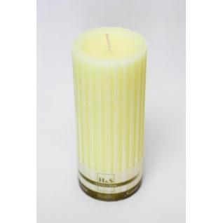 Свеча декоративная рифленая желтая