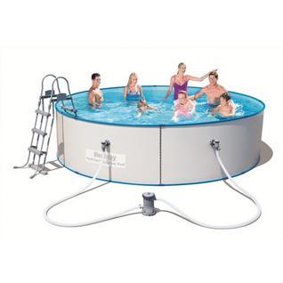Bestway Стальной бассейн BestWay 56386 Hydrium Splasher Pool Set 460х90 см, 14110 л, фильтр-насос 2006л/ч , лестница