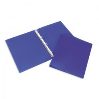 Папка на 4-х кольцах пласт. 25/32мм А4 ATTACHE F504/045 синяя