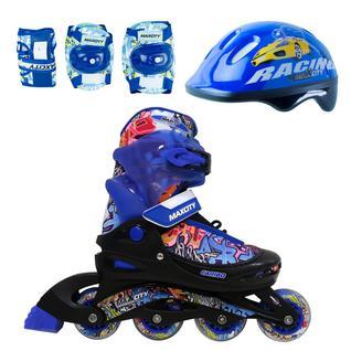 Роликовые коньки Maxcity Caribo Combo Boy Blue размер 30-33