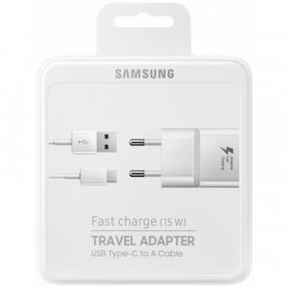 Зарядное устройство сетевое, 1 USB, 2А, Type-C, Samsung, бе, EP-TA20EWECGRU