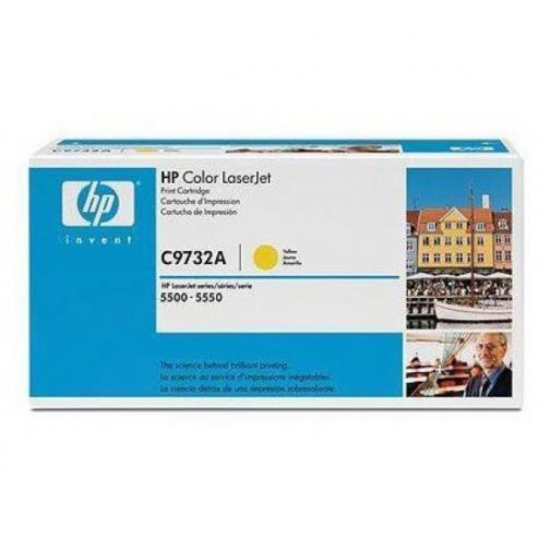 Оригинальный картридж HP C9732A для HP CLJ 5500, 5550 (желтый, 12000 стр.) 705-01 Hewlett-Packard 852613 1