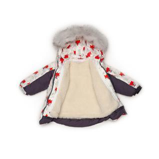 Комплект MalekBaby (Куртка + Полукомбинезон), С опушкой, №315/1 (Лисички+серый) арт.409ШМ/2