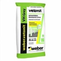 Шпаклевка Вебер.Ветонит ВХ серая для влажных помещений /20,0 кг/ (54 шт на поддоне)