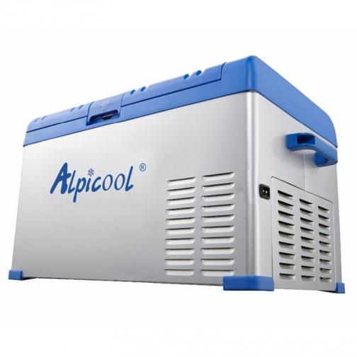 Kомпрессорный автохолодильник ALPICOOL ABS-30 синий (30л, 12/24/220В) 36971688 1