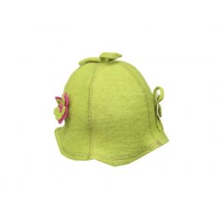 """Шляпка """"Кокетка"""" зеленая"""