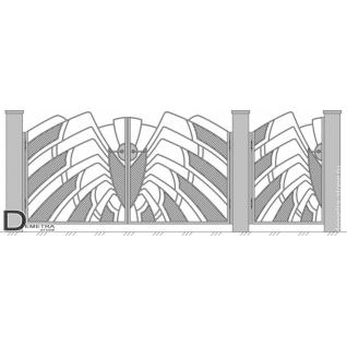 Кованые ворота элитные В-031 (кв.м)