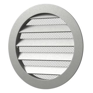 Решетка вент. круглая ERA 12,5РКМ D150 алюмин с фланцем D125 (32шт/уп)