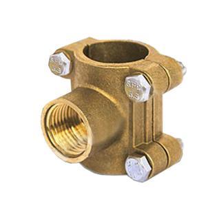Врезка в трубу Ду25 (водоотвод) (латунь) ВЛМЗ