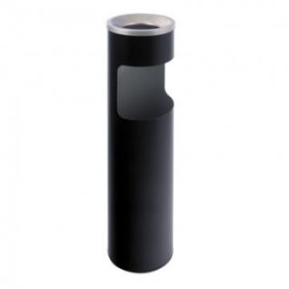 Урна-пепельница 10л оцинк.сталь,черная хром Титан N56