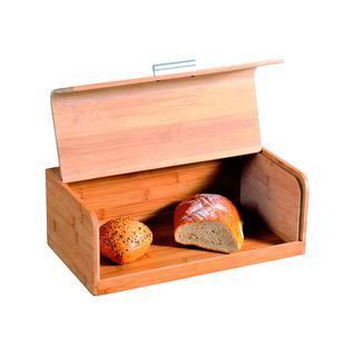 Хлебница с ручкой Kesper FSC металл/бамбук