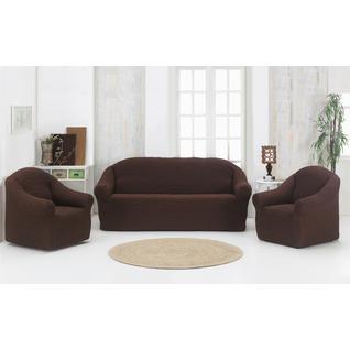 """Набор чехлов ПМ: KARNA Набор чехлов """"Стамбул"""" диван + 2 кресла без юбки"""