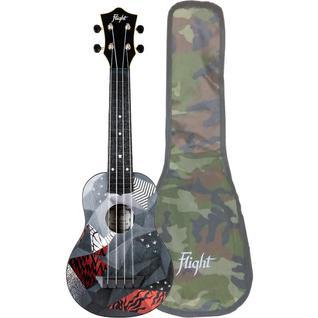 Укулеле - гавайская гитара Flight TUS 21P, сопрано, с чехлом