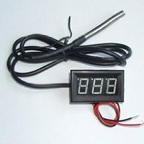 Термомерт цифровой панель -50..+125гр красный 862680