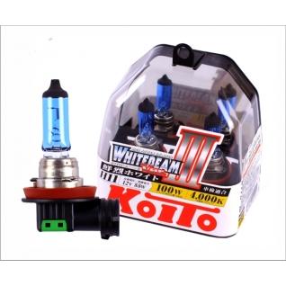 Лампы KOITO H11 Whitebeam 3 12V 55W 100W 4000K 2 шт. P0750W