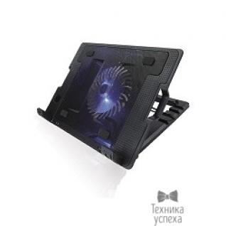 """Crown CROWN Подставка для ноутбука CMLS-926 (Black) 15,6"""", 1*Fan,blue light,2*USB"""