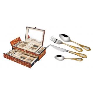 Столовый набор 72 предмета Hans Müller, коричневый мрамор