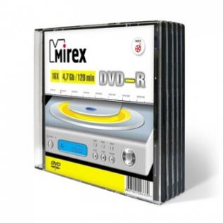 Носители информации Mirex DVD-R 4,7 Гб 16x slim case 5 pack (UL130003A1F)