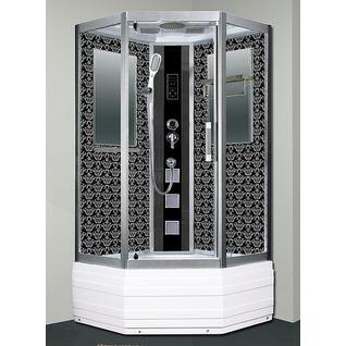 Душевая кабина Niagara Lux 7719B серебристый матовый, черный