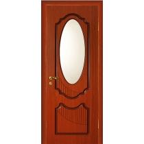 Дверное полотно МариаМ Ария ПУ лак остекленное 550-900 мм эбен, вишня, кр/дер
