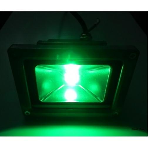 Светодиодный прожектор 10Вт эконом серый/зеленый плоский, IP65/50 606
