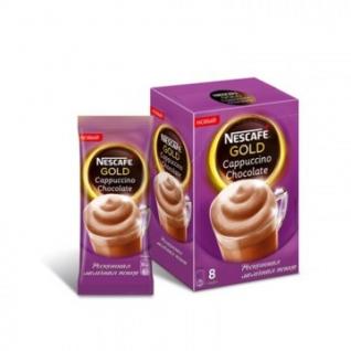 Кофе Nescafe Gold Capuccino Chocolate раств. порционный 8шт/уп.